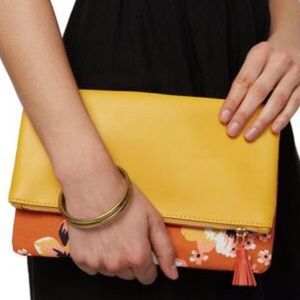 NWT Rachel Pally Yellow Gold Reversible Clutch